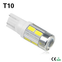 Super Bright Car Auto LED T10 W5W 194 12V light Bulb 5730SMD 10 LEDs fog Lamp interior light CANBUS no error univera car light(China)