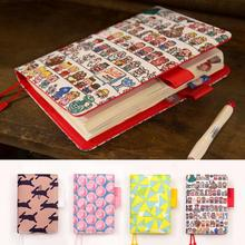 Floral leather notebook DIY diary/daily planner/agenda organizer 207P cute Japan fashion stationery A6 A5 school supplies