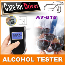 Best selling Patent Police Black Digital Alcotest Alcohol Breath Analyzer Detector Breathalyzer Tester Test