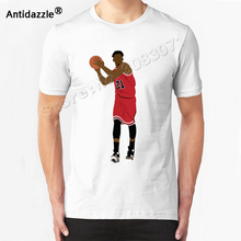Antidazzle Asian Size Summer JIMMY BUTLER Cartoon Men's Short Sleeve T shirt O-neck Creative T-shirt Casual Tees Tops Design(China)