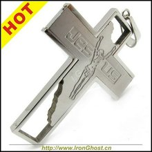 Wholesale Lots Men Jesus Cross Silver Charm Stainless Steel Necklace Chain Pendant Jewelry Free Shipping