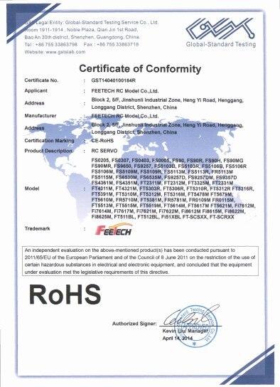 Feetech-FS90R-ROHS