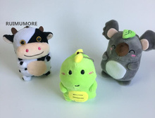 3Animals Choice , 11cm height new dragon and cow etc. plush animals Toys , gift key chain Plush Stuffed Toy(China)