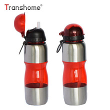 Transhome Sports Bicycle Bottle 650ml High Quality Plastic Portable Drinkfles For Outdoor Bicycle Sport Protein Shaker Bottles(China)