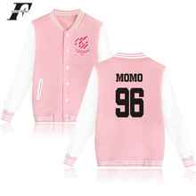 LUCKYFRIDAYF Kpop Korean TWICE Land Twiceland Hoodies Women Member Name Print Hoodies Concert Baseball Uniform For Fans Moletom