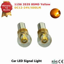 1156 8W LED Turn Signal Light, 360 Degree BA15S Base LED Reverse Lights Yellow Amber 2PCS/Lot