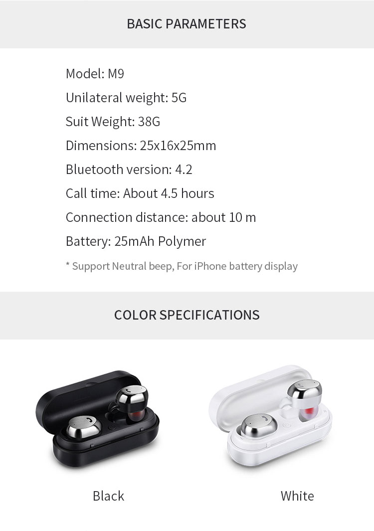 1 wireless bluetooth earphone for phone Airpods