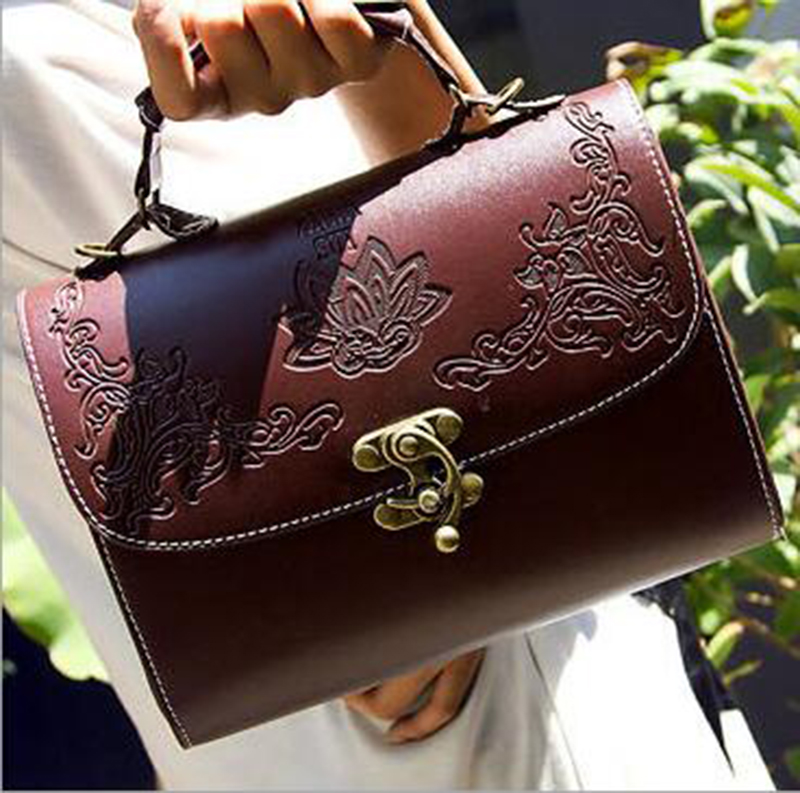 DL101  Women bags 23*16*12cm New retro fashion styling packet portable shoulder diagonal package Korean female carved bag<br><br>Aliexpress