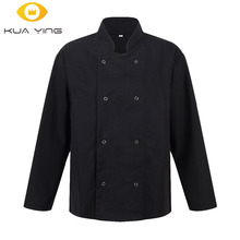 Chef Coat Unisex Long Sleeve chef wear uniform man chefs wear chef black / white jacket restaurant uniforms(China)