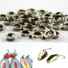 6mm 7mm 8mm 50 pcs Nickel Plated Split Rings for Blank Lures Crankbait Hard Bait 50 For Each Pack Bass Walleye Fishing