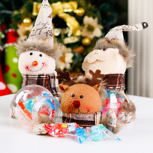 Christmas New Candy Jar Cute Candy Container Santa Claus Snowman Elk Gift Sugar Bowl Home Festival Decoration Supplies CKG20