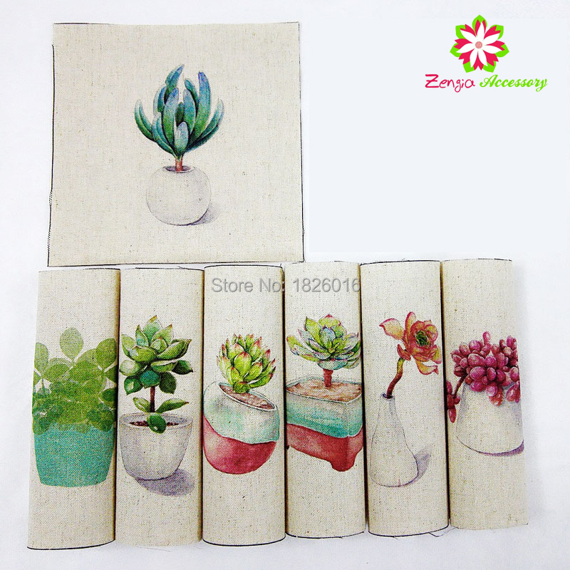 leaf succulent canvas fabric