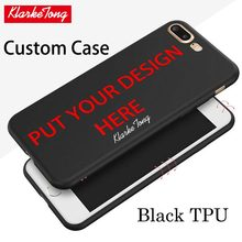 Custom Design DIY Photos Black TPU Case For iPhone 6 6s 7 8 Personalized Customized Silicone Back Cover For iphone7 Plus Cases(China)