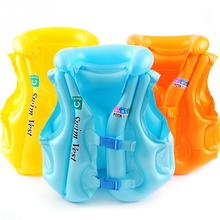 Blue/Yellow/Orange Baby Kid Float Inflatable Swim Vest Life Jacket Swimming Aid For Age 3-6 S M L
