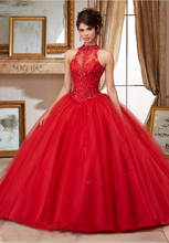 Red wedding dresses No Risk Shopping 2017 New Ball Gown High Collar Open back Ribbon Applique Beaded Wedding gown
