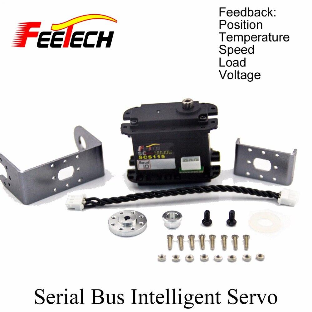 Robot Serial Bus Intelligent Servo, Feetech SCS115 Servo, 15kg cm Torque, Speed Voltage Load Position Temperature Feedback<br>