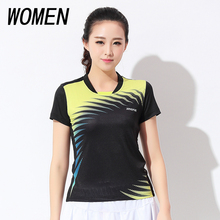 Free shipping new badminton wear short sleeved clothes ladies summer wear tennis sports shirts fast dry sports clothes