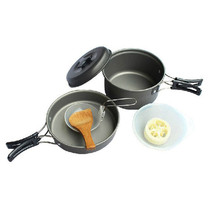 Lightweight Outdoor Camping Hiking Cookware Backpacking Cooking Picnic Bowl Pot Pan Set