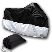 Buy AUTO TARP COVER MOTO Motorcycle Cover scooter bike ATV 245cm Size XL black silver protection for $12.20 in AliExpress store