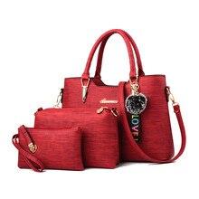 5b58c374e1 Amberler Luxury Women PU Leather Handbags Large Capacity Ladies Tote  Shoulder Bags Designer 3 Pieces Set