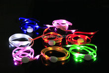 Free shipping 20PCS/10pairs Light Up LED Shoelaces Party Glowing Night Running Shoe Laces Club Highlight Luminous Shoelace