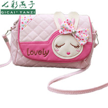 2017 Hot New Kids Cute Crossbody Children Girls Satchel Shoulder Bags Princess Handbag Lovely Messenger Bag High Quality N599