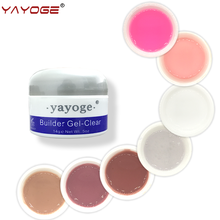 nail builder gel polish varnish for nail extensions LED uv gel manicure YAYOGE CLEAR WHITE PINK false tips Long nail gel 14g(China)