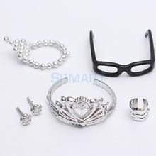 5pcs/Set Fashion Jewelry Accs for Barbie Dolls(China)