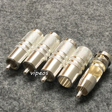 silver plated Audio RCA Plug 4 pcs for DIY rca sub cable sub