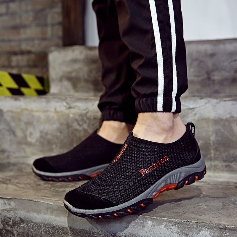 Summer breathable mesh shoes men casual shoes tide lazy slip-on jogging walk outdoor fitted 2017 new style ET107<br><br>Aliexpress