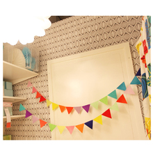 Color Nonwoven Banners Personality Theme Bunting Decor Birthday Baby Show Garland Decoration Outdoor Theme Children Room Decor