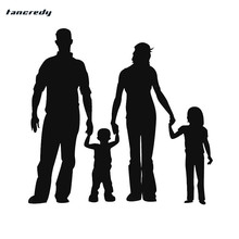 Tancredy The 2nd Half Price 17*16.5cm 3D Car Styling Stickers A Happy Family car decals and sticker Car full Body Stickers(China)
