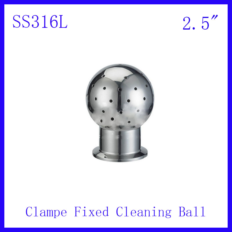 HOT 2.5 SS316L Stainless Steel 360 degree Spray Cleaning Ball Clamped fixed Tank  ball Tank Sanitary  Washing clean head<br><br>Aliexpress
