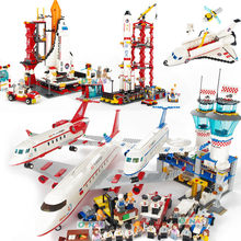 Compatible Legoed City Plane Airplane Sets Friends Airport Station Kits Helicopter Figure Building Blocks Kids Toys Child Brick(China)