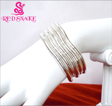 RED SNAKE 1 piece Bendy Fashion Flexible Silver Solidcolour Snake Necklace 90cm*6mm Larger Manufactory Price Retail for $25.99
