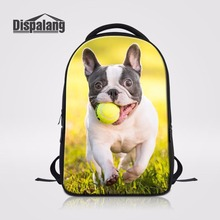 Dispalang Fashion Ladies Daypack Computer Laptop Notebook Backpack Bags Cute Pet Dog With Ball Preppy School Bags For Teenagers