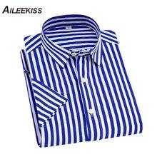476799aab4 Verano de 2019 nueva marca Camisas Para Hombre de rayas Casual trabajo los hombres  Camisas de algodón de manga corta 4XL Floral .