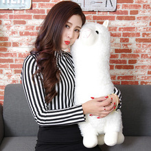 45cm PP Cotton 3 Types Japanese Alpacasso Soft Toys Doll Giant Stuffed Animals Lama Toy Kawaii Alpaca Plush Kids Christmas Gift(China)