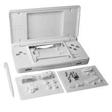White Full Repair Parts Replacement Housing Shell Case Kit for Nintendo DS Lite NDSL