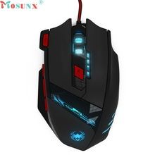 Brand New 8000 DPI 8 Key Memory Chips Design 6 Optical LED Wired Game Mouse Nov2(China)