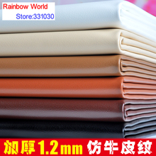 100*138cm High Quality cow cattle grain PU Leather fabric for DIY sofa bed shoes bags Garment material
