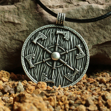 1pcs Thunder shield of Perun Slavic Axes gothic retro Pagan Pendant men Amulet  Necklace axe Norse handmade Jewelry