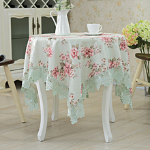 New European elegant lace tablecloth embroidery table cloth home textile decoration table cover round tablecloths for wedding