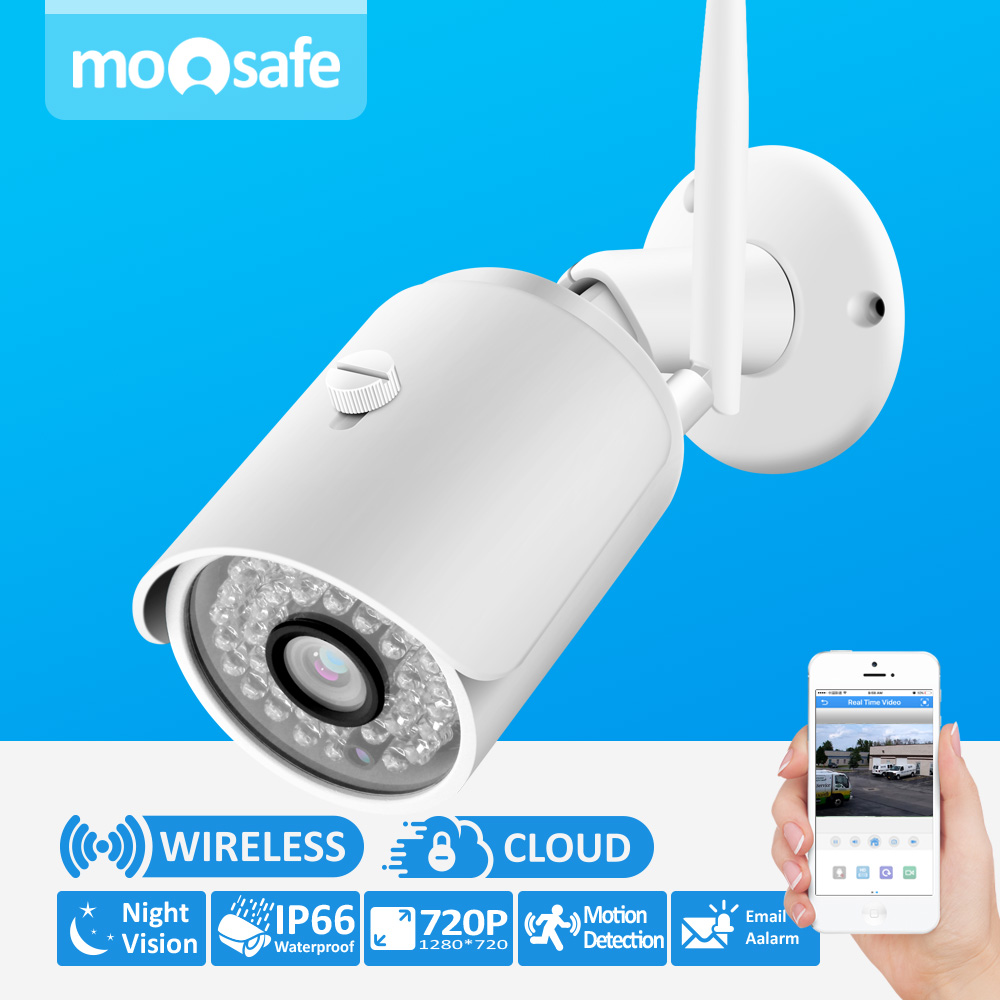 Moosafe 1.0MP Wireless Camera H.264 Sureillance Camera IR Night Vision IP66 Waterproof 720P HD ONVIF CCTV Security Product<br><br>Aliexpress