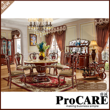 Buy procare French Design Room Furniture marble wooden carving