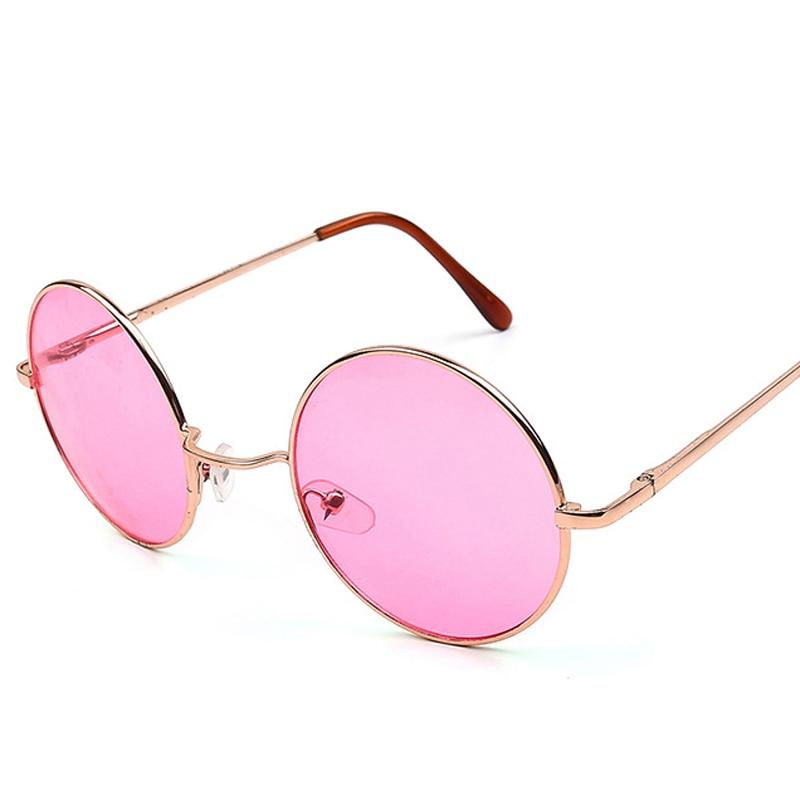 Hippie Hippy 60s 1970s Round Lennon Specs Fancy Dress Costume Glasses Pink Ozzy