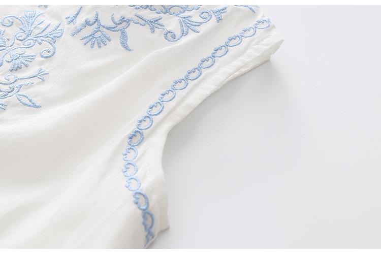 2018 Hot Summer 2-10 Years Brief Kids Lace Embroidery Flower Floral Sleeveless Flounce Vest Tank Sundress Girls Dress Cotton (22)