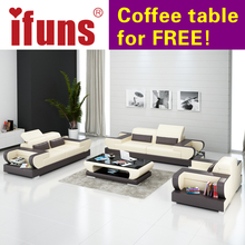IFUNS modern design genuine leather sectional sofa,sofa set living room furniture