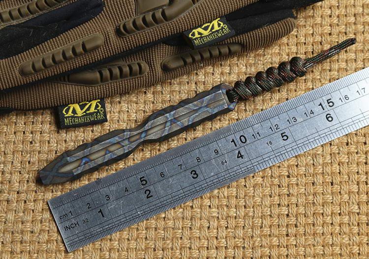 Details about  /EDC titanium TC4 outdoor Crowbar Bottle opener screwdriver Keychain Multi Tools