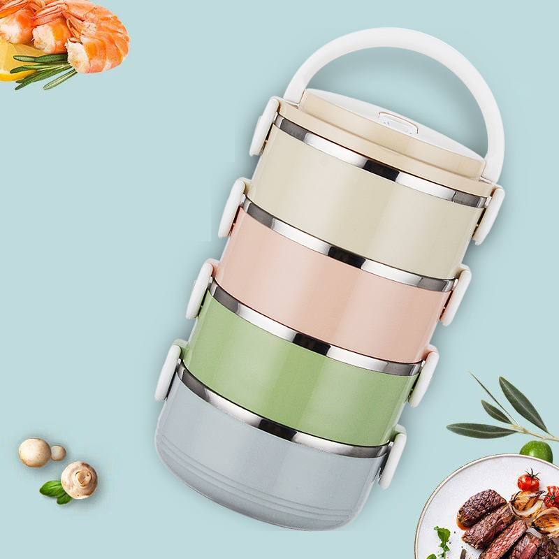4 Layer Portable Stainless Steel Lunch Bento Boxs Japanese Style Fruit Food Storage Container For Kid School Camping Travel Sets8